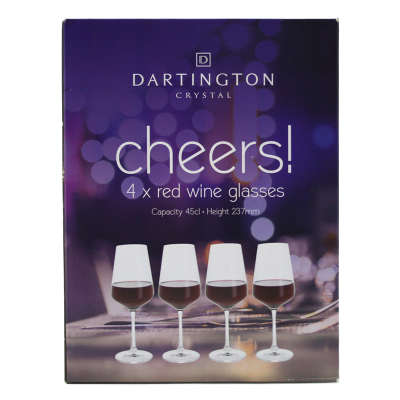 dartington cheers red wine glasses