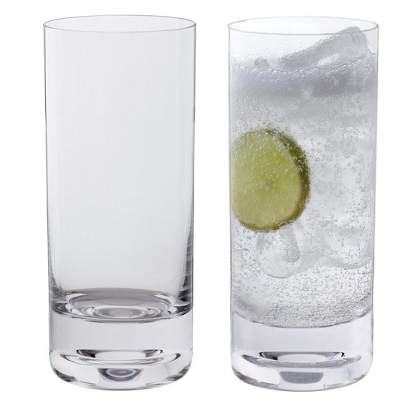 2 Glasses Dartington Crystal Glitz Highball Glasses