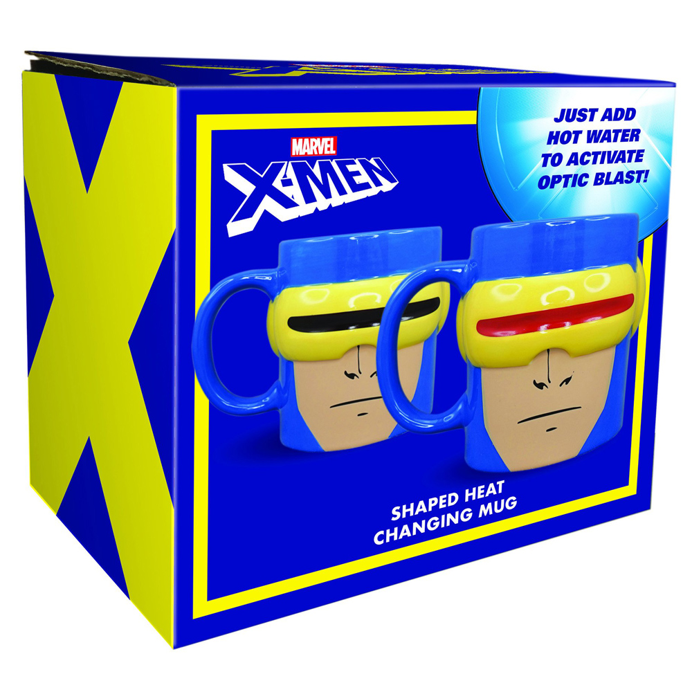 OFFICIAL MARVEL XMEN CYCLOPS HEAT CHANGE HEAD SHAPED MUG COFFEE CUP NEW IN BOX